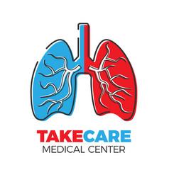 pulmonary center logo vector image
