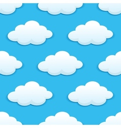 Seamless pattern with fluffy clouds vector