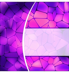 Stained glass design vector image