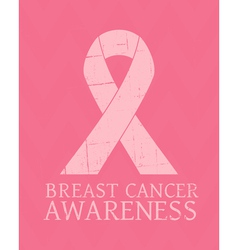 Vintage style Breast Cancer Awareness poster vector image