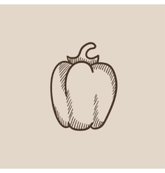 Bell pepper sketch icon vector image vector image