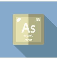 Chemical element arsenic flat vector