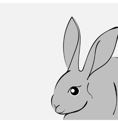 Grey easter rabbit white background Animal vector image vector image