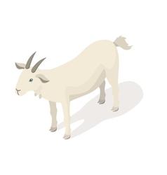 Isometric 3d of white goat vector image