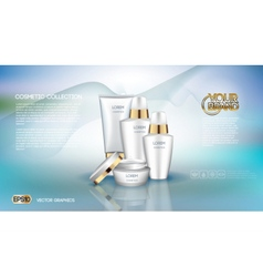Digital white matte surface skin care cream vector