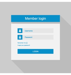 login interface - username and password fl vector image vector image