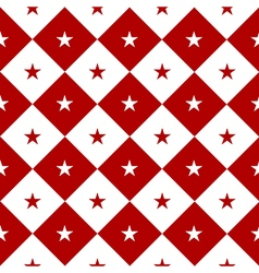 Star Red White Chess Board Diamond Background vector image vector image