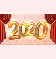 2020 new year concert advertising banner vector