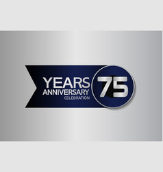 75 years anniversary logo style with circle vector