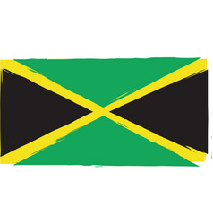 abstract jamaican flag or banner vector image