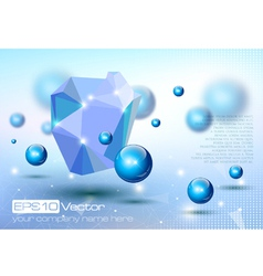 Abstract modern depth of field technology design vector image