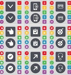 Arrow down Smartphone Credit card Hand Survey vector