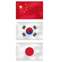 asian wave flags vector image