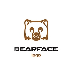 Bear logo template Animal head symbol vector