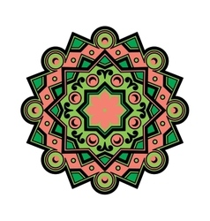 Beautiful Deco Colored Mandala Patterned vector image