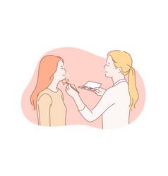 Beauty makeup stylist concept vector
