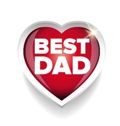 Best Dad heart vector image