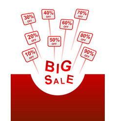 big sale plates indicating discount vector image