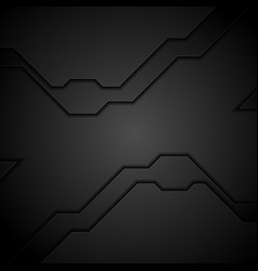 black technology modern abstract background vector image