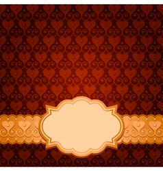 brown card vector image