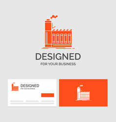 business logo template for factory industrial vector image