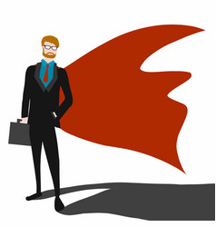 business man superhero cartoon vector image