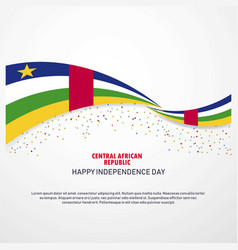 Central african republic happy independence day vector