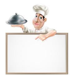 chef cloche and menu vector image