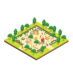 children park concept 3d isometric view vector image