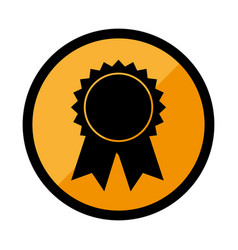 circular emblem with medal prize vector image