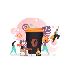 coffee concept for web banner website page vector image