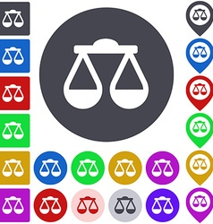 Color scale icon set vector