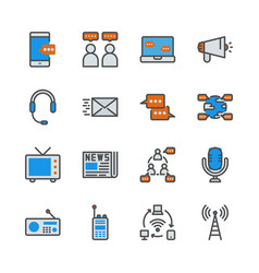 communication device in colorline icon set vector image