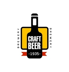 Craft Beer Logo Design Template vector image