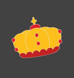 crown on dark grey background vector image