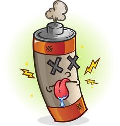 Dead battery cartoon character vector