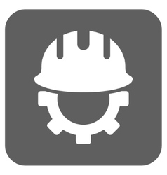 Development Hardhat Flat Squared Icon vector