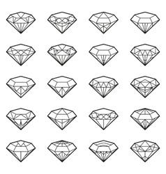 Diamonds icon set vector