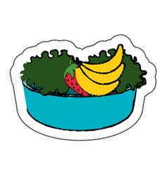 Dish with vegan food vector