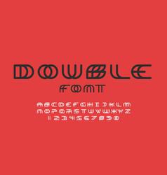 Double font alphabet letters vector