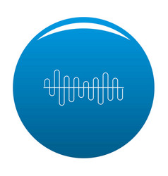equalizer volume sound icon blue vector image