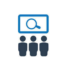 Find jobs icon vector
