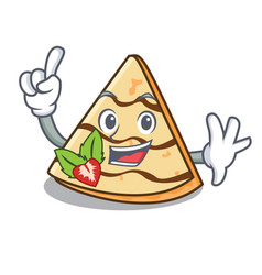 Finger crepe mascot cartoon style vector