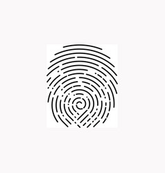 fingerprint design on white rounded vector image