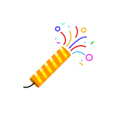 firecracker icon party birthday surprise vector image