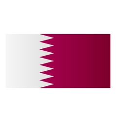 flag of qatar vector image