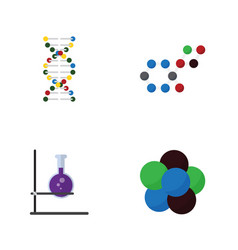 Flat science set genome proton flask and vector