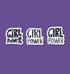 girl power poster concept vector image