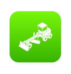 grader icon green vector image