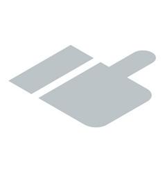 grey thumb up icon isometric style vector image